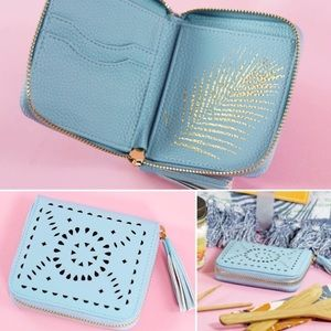 Cleobella Vegan Leather Laser Cut Wallet NWT
